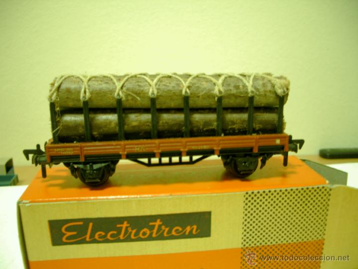 Trenes Escala: ELECTROTREN VAGON ANTIGUO TRANSPORTE DE TRONCOS EN CAJA - Foto 2 - 46241168