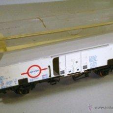 Trenes Escala: ELECTROTREN #1470. VAGÓN CERRADO LARGO TRANSFESA BLANCO. PUERTAS PRACTICABLES.. Lote 49433273