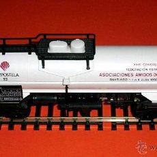 Trenes Escala: VAGÓN ESPECIAL XXXI CONGRESO FEAAF COMPOSTELA SANTIAGO AÑO SANTO 1993, ELECTROTREN H0. SIN CAJA.. Lote 50875952