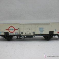 Trenes Escala: ELECTROTREN - VAGÓN DE MERCANCÍAS CERRADO TRANSFESA DE LA FS - ESCALA H0. Lote 51474049