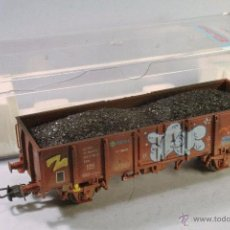 Comboios Escala: ELECTROTREN #1251. ESCALA H0. VAGÓN CARGA BORDES MEDIOS. ENVEJECIDO Y MEJORADO CON GRAFITI. Lote 53450395