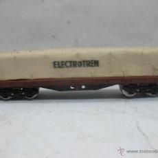 Trenes Escala: ELECTROTREN - VAGÓN DE MERCANCÍAS CERRADO CON TELA RENFE - ESCALA H0. Lote 53724903