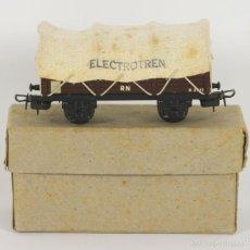 Trenes Escala: VAGON DE TREN EN HOJALATA. ELECTROTREN. REF 804. ESC H0. AÑOS 40/50.. Lote 55873792