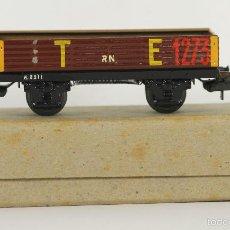 Trenes Escala: VAGON DE TREN EN HOJALATA. ELECTROTREN. REF 801/1. ESC H0. AÑOS 40/50.. Lote 55940452