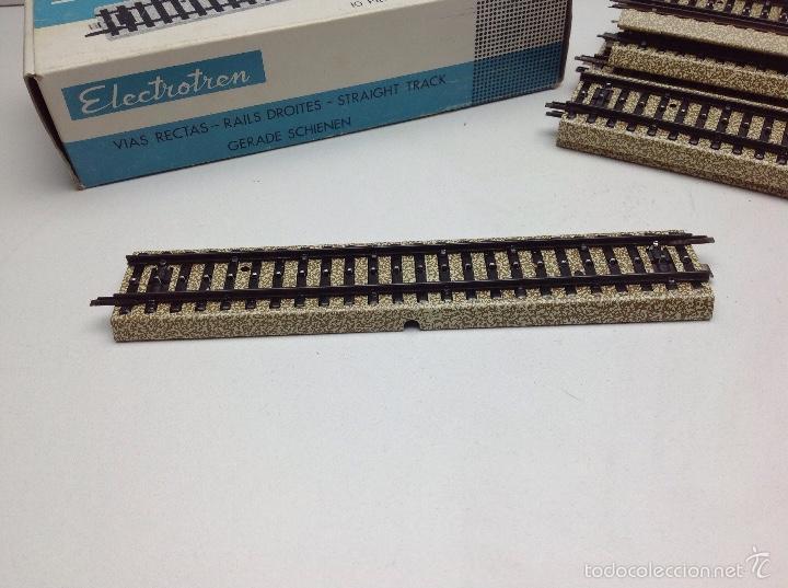 Trenes Escala: ELECTROTREN ESCALA HO LOTE VIAS CON CAJA NUEVAS REF.180 - Foto 2 - 56773540