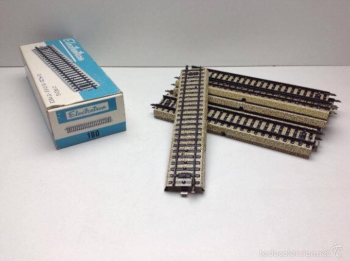 Trenes Escala: ELECTROTREN ESCALA HO LOTE VIAS CON CAJA NUEVAS REF.180 - Foto 4 - 56773540