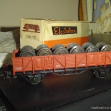 Trenes Escala: ELECTROTREN H0. ANTIGUO VAGÓN 1001/10 CON CARGA EJES. Lote 56936714