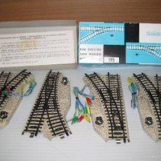 Trenes Escala: 2 PARES DESVIOS CON MANDO AUTOMATICO. Lote 147777728