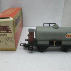 Trenes Escala: ELECTROTREN REF: 1107 - VAGÓN CISTERNA CON GARITA ESSO - ESCALA H0. Lote 57381332