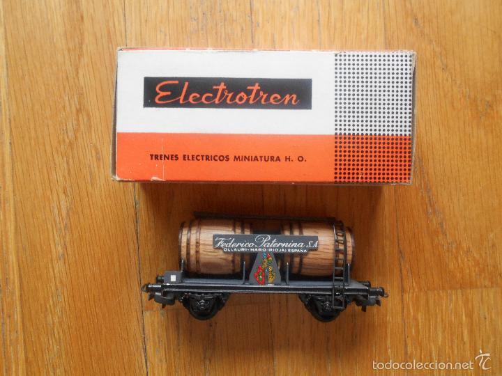 ANTIGUO VAGON ELECTROTREN BODEGAS FEDERICO PATERNINA, CON CAJA ORIGINAL (Juguetes - Trenes Escala H0 - Electrotren)