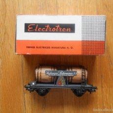 Trenes Escala: ANTIGUO VAGON ELECTROTREN BODEGAS FEDERICO PATERNINA, CON CAJA ORIGINAL. Lote 57489266
