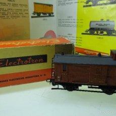 Trenes Escala: BONITO VAGÓN DE EQUIPAJES - ELECTROTREN - CAJA ORIGINAL - ESCALA H0 - . Lote 60963827