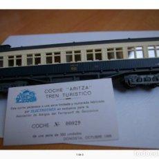 Trenes Escala: VAGON COCHE TREN TURÍSTICO ARITZA ELECTROTREN ESCALA H0. Lote 62762048