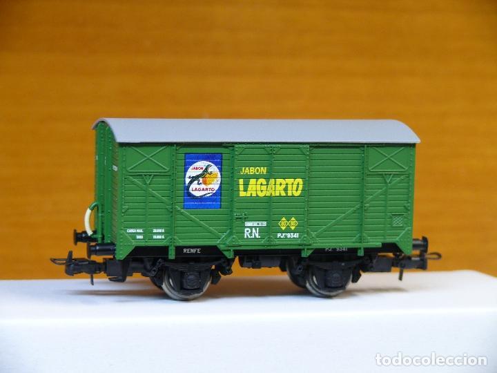 ELECTROTREN H0 VAGÓN CERRADO UNIFICADO *JABONES LAGARTO*, REFERENCIA 1934 (Juguetes - Trenes Escala H0 - Electrotren)