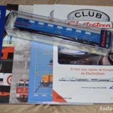 Trenes Escala: VAGÓN CLUB ELECTROTREN - SEXTO VAGÓN, NUMS DEL 21 AL 24 Y CATALOGO - PERFECTO - NUNCA SACADO CAJA. Lote 75786723