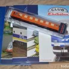 Trenes Escala: VAGÓN CLUB ELECTROTREN - SEPTIMO VAGÓN, NUMS DEL 25 AL 28 Y CATALOGO - PERFECTO - NUNCA SACADO CAJA. Lote 75788063