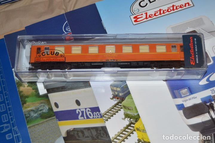 Trenes Escala: VAGÓN CLUB ELECTROTREN - SEPTIMO VAGÓN, NUMS DEL 25 AL 28 Y CATALOGO - PERFECTO - NUNCA SACADO CAJA - Foto 2 - 75788063