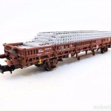 Trenes Escala: ELECTROTREN E1338 MAQUETREN 2013 VAGÓN TRAVIESAS. Lote 83563976