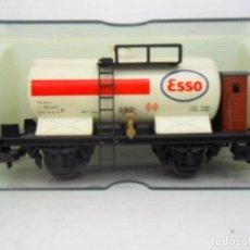 Trenes Escala: ELECTROTREN VAGON CISTERNA ESSO REF 1901 WAGON MADE IN SPAIN HO ALFREEDOM TREN. Lote 84210872