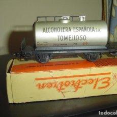 Trenes Escala: ELECTROTREN H0. CISTERNA GRANDE DE METAL ALCOHOLERA DEL TOMELLOSO.. Lote 84248192