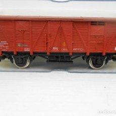 Trenes Escala: ELECTROTREN VAGON CARGA CERRADO REF 1360 WAGON COCHE HO TREN TRENES FERROCARRIL. Lote 84614720