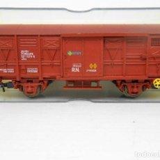 Trenes Escala: ELECTROTREN VAGON CARGA CERRADO REF 1370 WAGON COCHE HO TREN TRENES FERROCARRIL. Lote 84614892