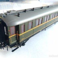 Trenes Escala: ELECTROTREN H0 VAGÓN COCHE VERDERÓN RENFE 1ª- 3ª CLASE, AAC327. , CON LUZ. VÁLIDO EN IBERTREN H0 . Lote 115049118