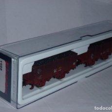 Trenes Escala: 0161-ELECTROTREN REF.1988 SET DOS VAGONES X R.N. CON CARGA DE CARBÓN H0 - 1/87. Lote 95669147