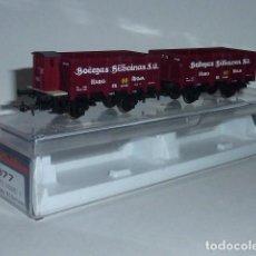 Trenes Escala: ELECTROTREN 1977 CONJUNTO 2 VAGONES X BODEGAS BILBAINAS RENFE H0 - 1/87. Lote 95673063