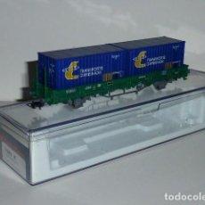 Trenes Escala: 0134-ELECTROTREN REF.1569K VAGON KS RENFE EP.V CON CONTENEDORES TRANSP. COMB.. Lote 95689619