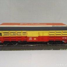 Trenes Escala: VAGON DE MERCANCIAS CERRADO TRANSPORTES FRUTEROS SA LERIDA RENFE ELECTROTREN 5102 ESCALA H0. Lote 95697815
