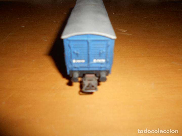 Trenes Escala: ELECTROTREN - VAGÓN DE MERCANCÍAS CERRADO TRANSFESA AÑOS 60 - Foto 7 - 139315798