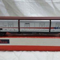 Trenes Escala: VAGON TRANSFESA DE 6 PUERTAS DE ELECTROTREN EN CAJA DE CARTON HO H0. Lote 96096479