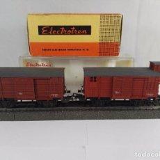 Trenes Escala: LOTE DE VAGONES DE MERCANCIAS CERRADOS RENFE ELECTROTREN 805 856 ESCALA H0. Lote 97832811