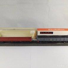 Trenes Escala: LOTE DE 2 VAGONES DE MERCANCIAS ABIERTOS RENFE ELECTROTREN 5123 5152 ESCALA H0. Lote 97839863