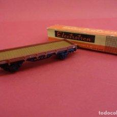 Trenes Escala: ELECTROTREN HO. VAGÓN TRANSPORTE EN CAJA ORIGINAL (FALTA UNA TAPA). ANTIGUO. Lote 98209899