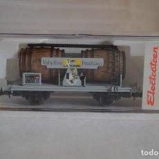 Trenes Escala: VAGÓN DE VINO LA TORRE SBB-CFF. MOD. 821. SERIE LIMITADA. ESCALA H0. ELECTROTREN. ROMANJUGUETESYMAS.. Lote 222247315
