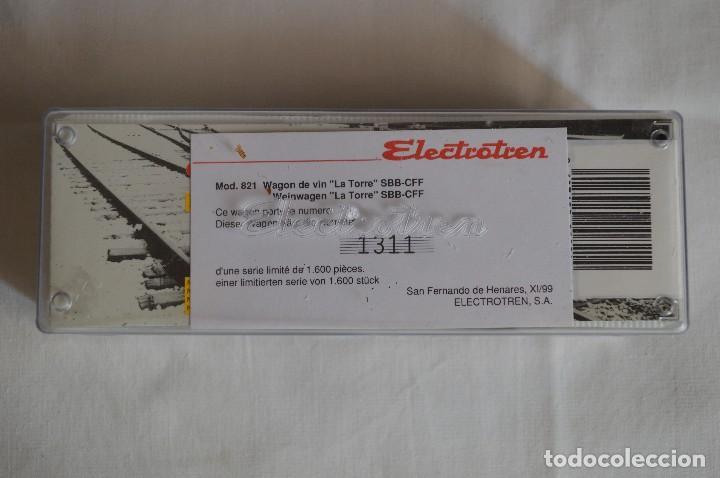 Trenes Escala: Vagón de vino La Torre SBB-CFF. Mod. 821. Serie limitada. Escala H0. Electrotren. romanjuguetesymas. - Foto 3 - 222247315