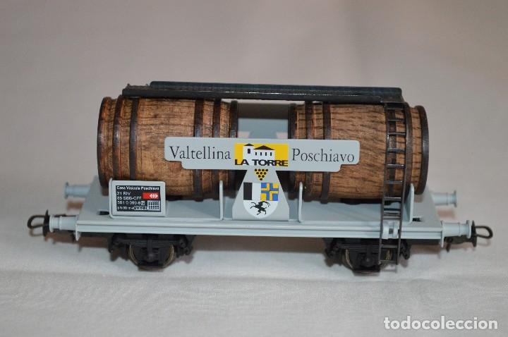 Trenes Escala: Vagón de vino La Torre SBB-CFF. Mod. 821. Serie limitada. Escala H0. Electrotren. romanjuguetesymas. - Foto 4 - 222247315