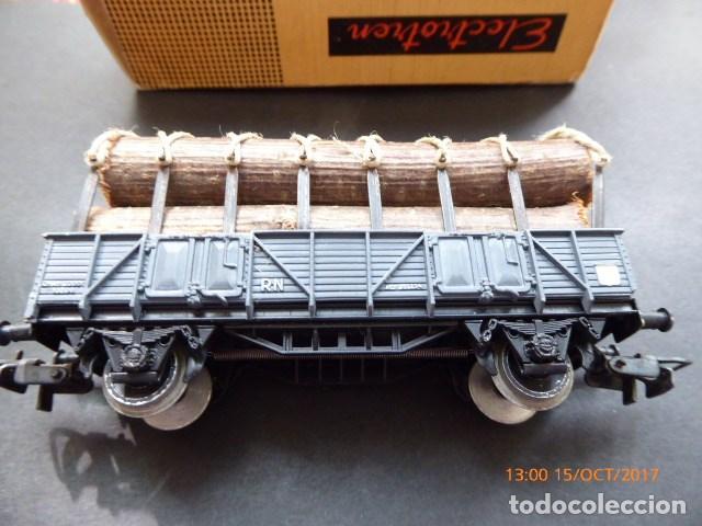 Trenes Escala: electrotren h0, vagon troncos años 70, - Foto 2 - 101211183