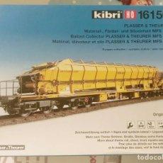 Trenes Escala: KIBRI VAGON COLECTOR DE BALASTO HO COMSA, VIAS, ROCO, ELECTROTREN, MABAR, IBERTREN, MARKLIN, LIMA. Lote 102963327