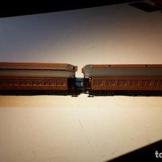 Trenes Escala: LOTE DE DOS COCHES COSTA RENFE. COLECCIÓN ALTAYA. ESCALA H0.. Lote 106127983
