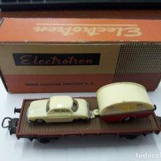 Trenes Escala: ELECTROTRÉN ANTIGUO VAGÓN DAUPHINE Y CARAVANA,BUEN ESTADO. CON CAJA. H0. Lote 109244163