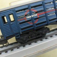 Trenes Escala: VAGON JAULA TRANSFESA ELECTROTREN CON PEANA CONMEMORATIVA. Lote 101195639
