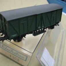Trenes Escala: VAGON ELECTROTREN HO CERRADO CLASICO CON CHASIS K TRAIN Y ENGANCHE NEM. Lote 27351916