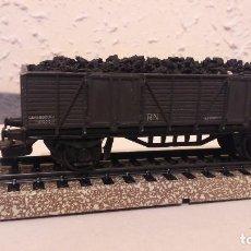 Trenes Escala: VAGON DE ELECTROTREN HO, PARA TRANSPOTE DE CARBON. . Lote 114838867