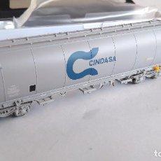 Trenes Escala: ELECTROTREN H0 VAGÓN TOLVA RENFE CINDASA EPOCA IV, REF E8018. Lote 115339407