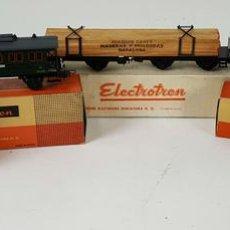 Trenes Escala: COLECCION DE VAGONES DE TREN. ELECTROTREN. ESCALA H0. CAJAS ORIGINALES. CIRCA 1980. . Lote 115467519