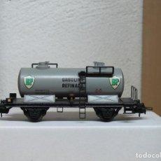 Trenes Escala: ELECTROTREN H0 VAGÓN MEDIANA CISTERNA BP REFERENCIA 1107/6. Lote 122013479