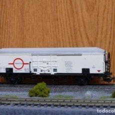 Trenes Escala: ELECTROTREN H0 VAGÓN CERRADO FRIGORIFICO TRANSFESA REFERENCIA 1470. Lote 122035827